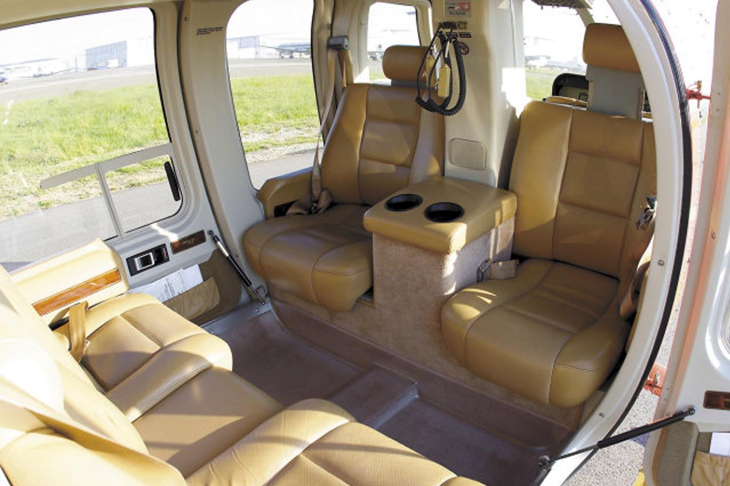 Images Meribel Helicopters Bell 407 VIP Interior Parked In